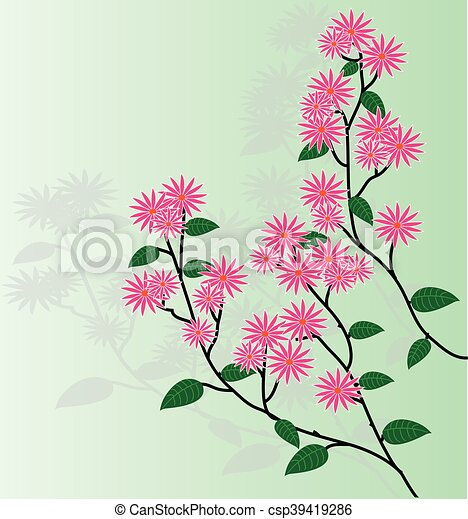 Antecedentes florales Vector - csp39419286