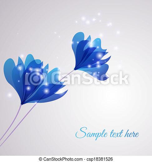 vector, flor, plano de fondo - csp18381526