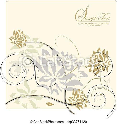 Antecedentes florales Vector - csp33751120