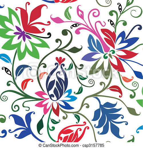 Vector floral background. - csp3157785