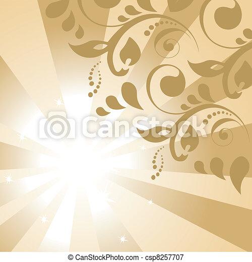 Vector floral background - csp8257707