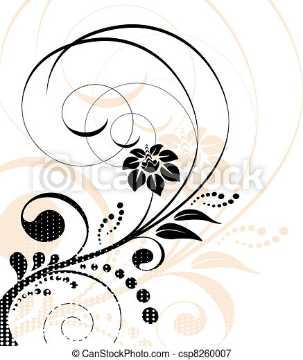 Vector floral background - csp8260007