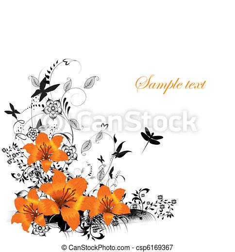 Vector floral border - csp6169367