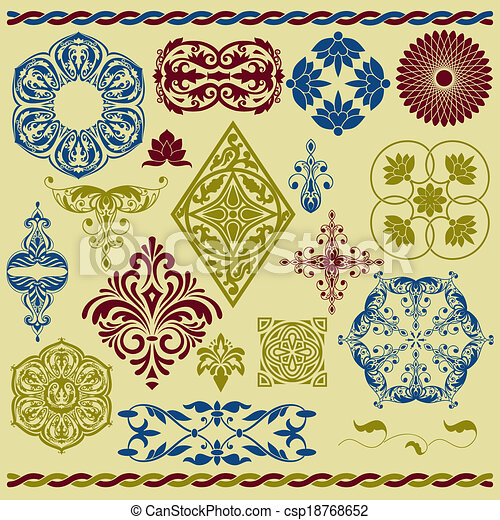 Vector Floral Design Elements - csp18768652