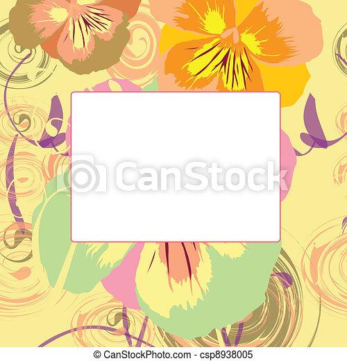 Vector floral frame - csp8938005