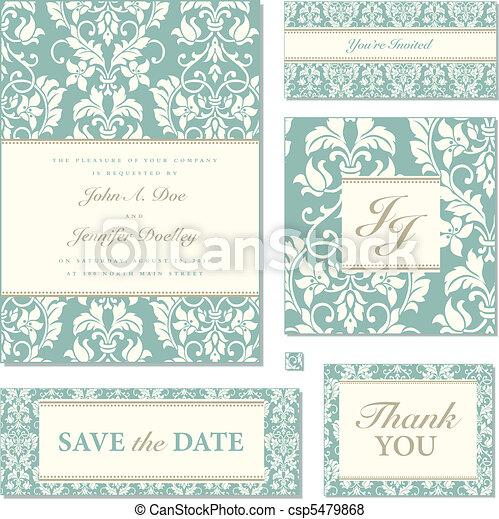 Vector Floral Frame Set - csp5479868