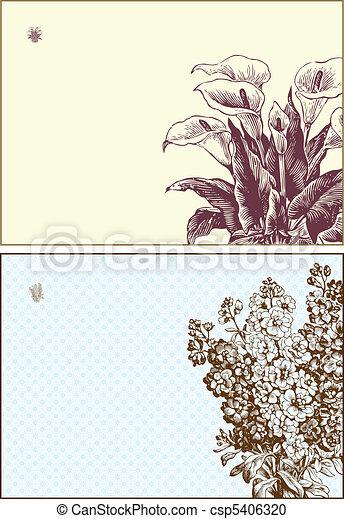 Vector Floral Frame Set - csp5406320