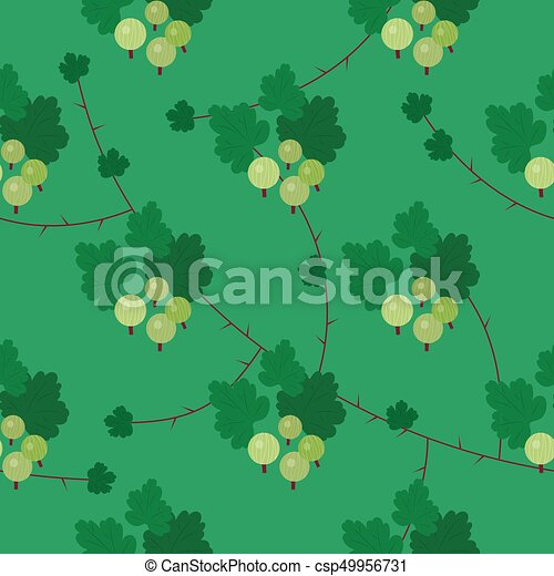 Vector floral gooseberry seamless pattern - csp49956731
