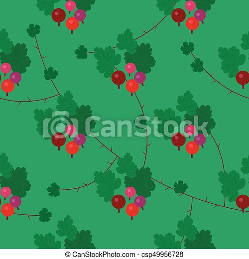 Vector floral gooseberry seamless pattern - csp49956728