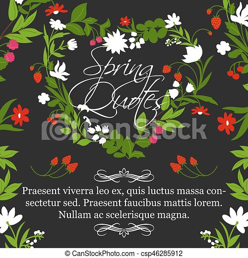 vector floral poster for spring quotes design spring quotes