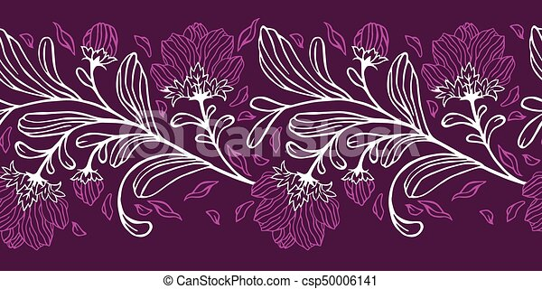 Vector floral seamless pattern. - csp50006141
