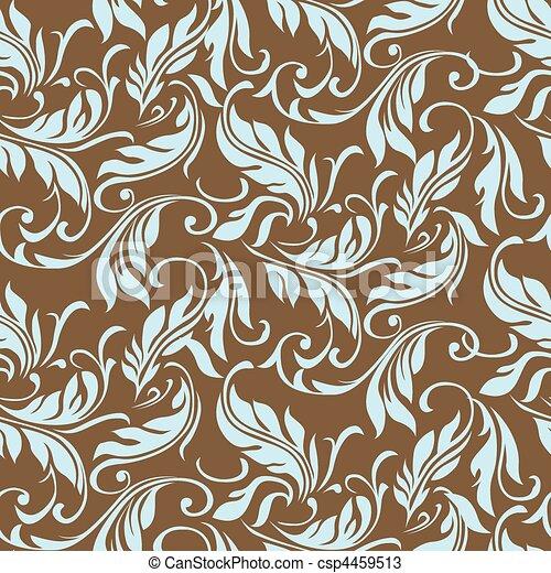 Vector Floral Swirl Leaf Pattern - csp4459513