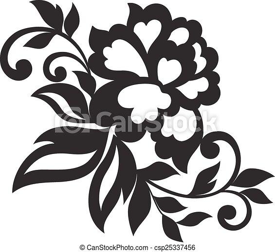 Vector flower ornament - csp25337456