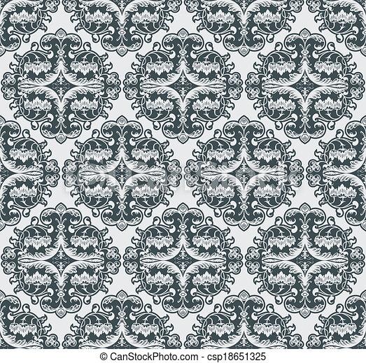 Vector flower pattern seamless - csp18651325