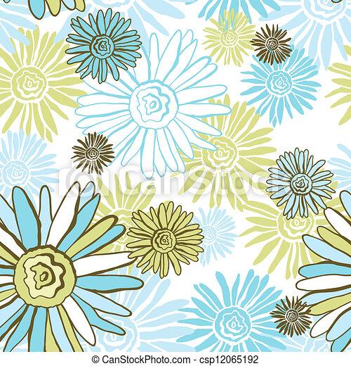 Vector Flower (Seamless Pattern) - csp12065192