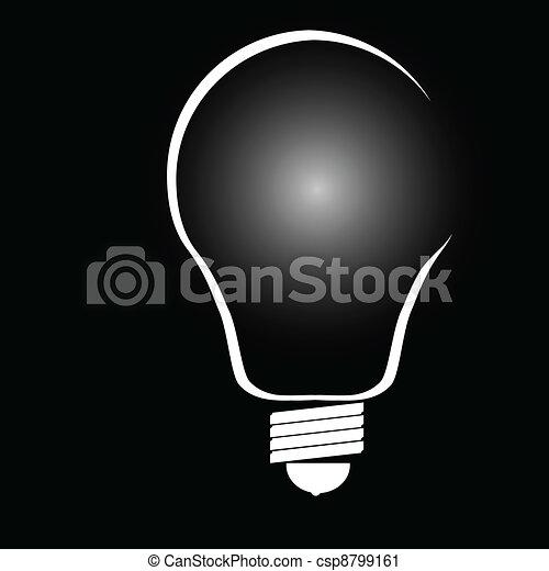 Ilustración de vector en negro - csp8799161