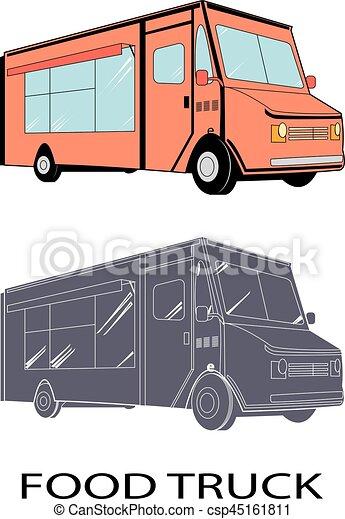 VECTOR food truck - csp45161811