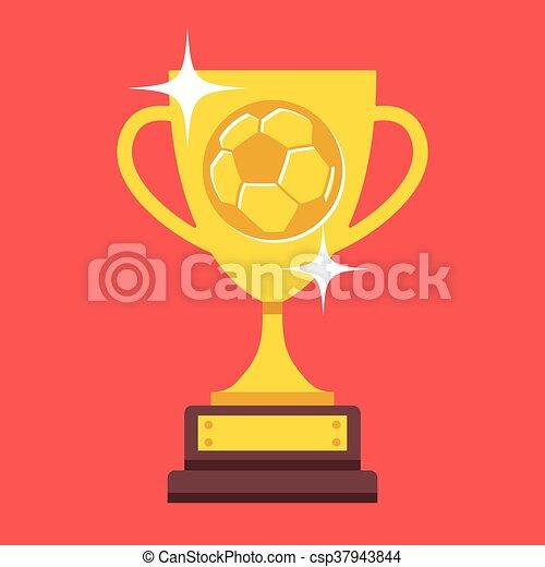 Vector Football Cup Trophy