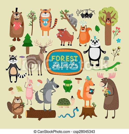 Vector forest animals - csp28045343