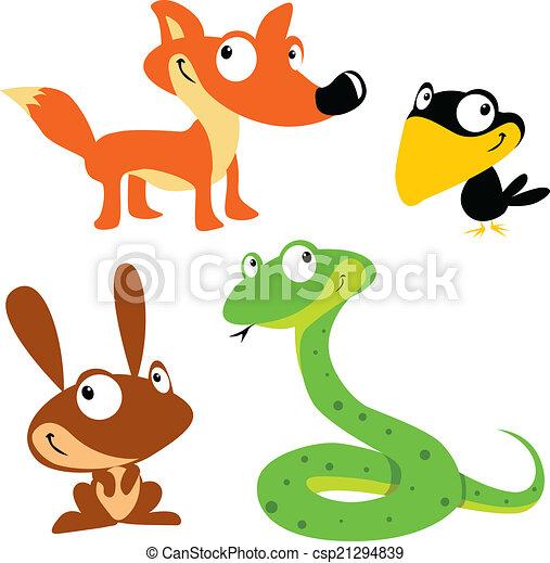 vector forest animals - csp21294839