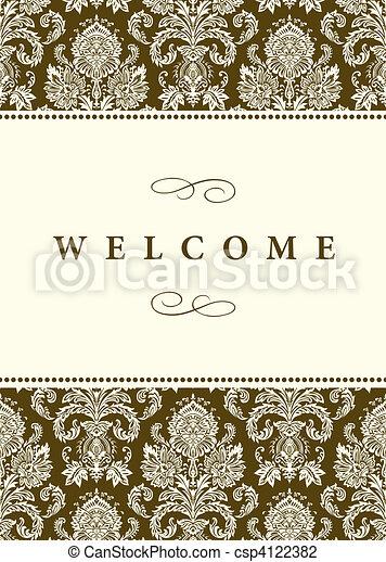 Vector Formal Damask Background - csp4122382
