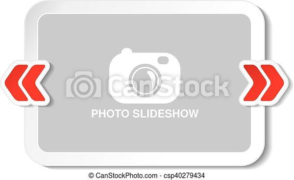 Vector frame for website slideshow, presentation or series of ...