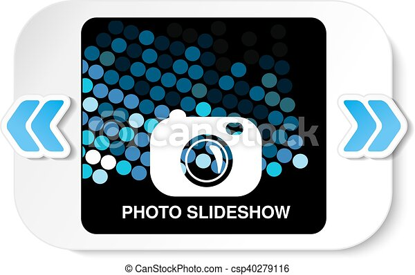 Vector frame for website slideshow, presentation or series of projected images, photographic slides or online photo album layout - csp40279116