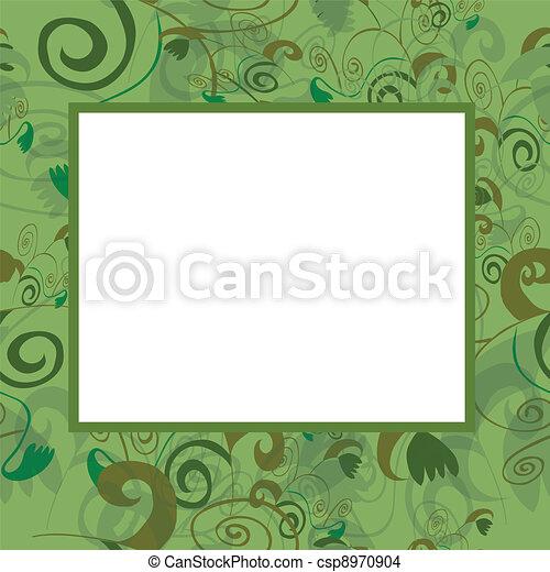 Vector frame in green tones - csp8970904