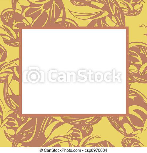 Vector frame in light tones - csp8970684