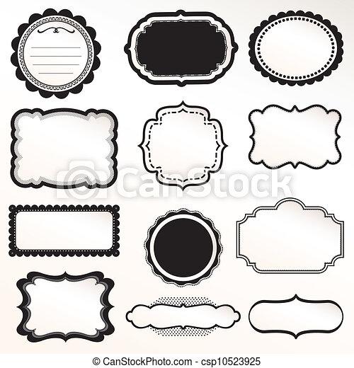 Vector Frame Set ornamental vintage - csp10523925