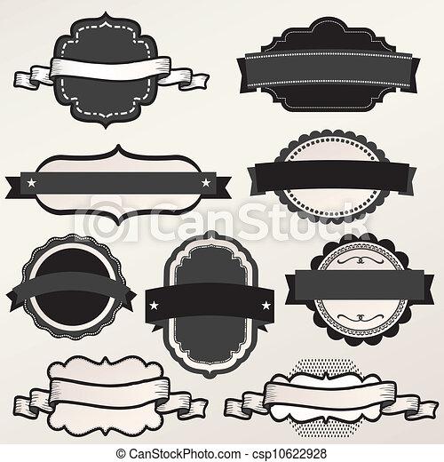 Vector Frame Set ornamental vintage - csp10622928
