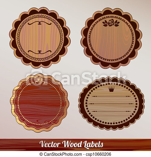 Vector Frame Set ornamental vintage - csp10660206