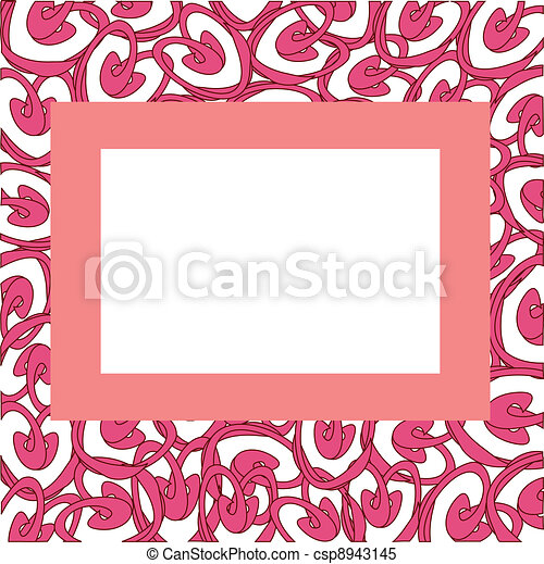Vector frame with abstract hearts - csp8943145