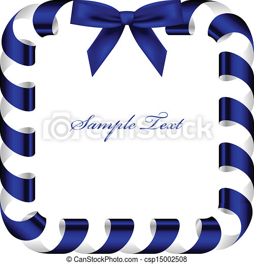 Vector frame with blue ribbon vector clipart - Search Illustration ...