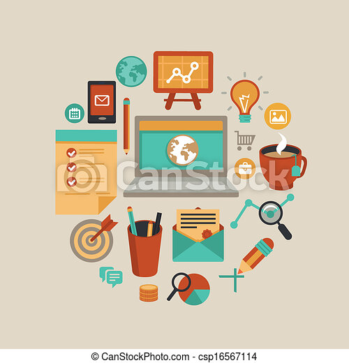 Vector freelance work concept - csp16567114