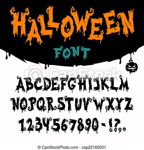La fuente del vector de Halloween - csp22165031