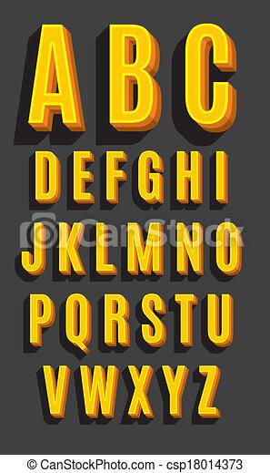 Font retro tipo vector - csp18014373