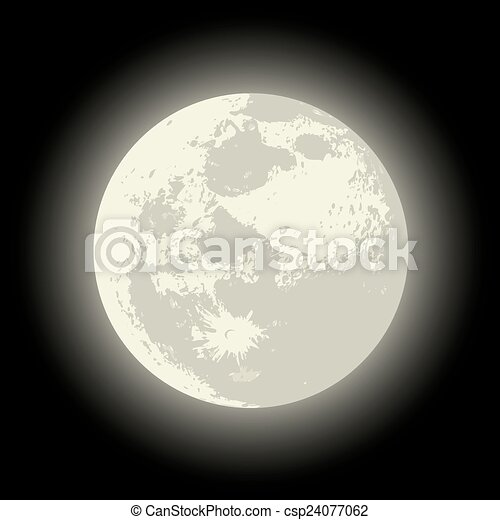 Vector Full Moon Available Eps 10 Vector Format Separated By Groups
