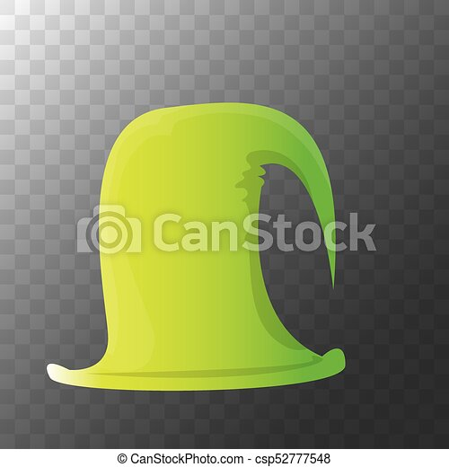 Colorful Christmas Background For Kids.Vector Funky Red And Green Stripped Cartoon Christmas Elf Hat Isolated On Transparent Background Vector Kids Colorful Elf Hat Icon Or Label