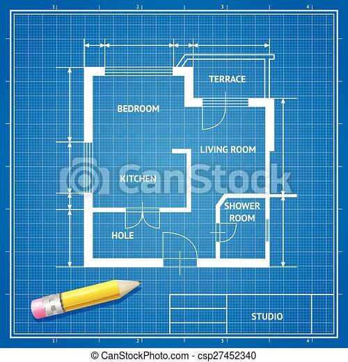 Vector furniture architect blueprint background flat design eps vector furniture architect blueprint background flat design malvernweather Images