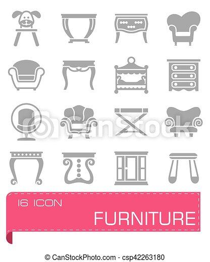 Vector Furniture icon set - csp42263180
