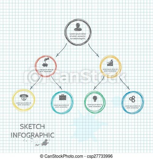 Elementos de bocetos de vectores para información gráfica. - csp27733996