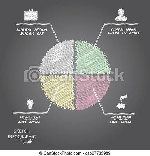 Elementos de bocetos de vectores para información gráfica. - csp27733989