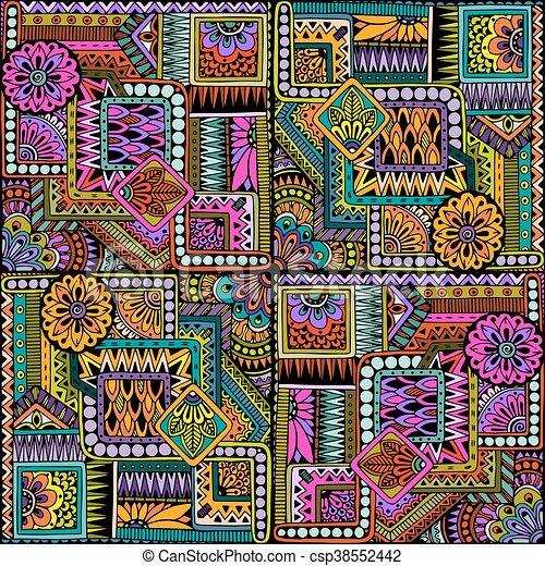 Patrón de fondo de diseño de diseño de diseño de diseño de floración brasileña sin costura en vector. - csp38552442