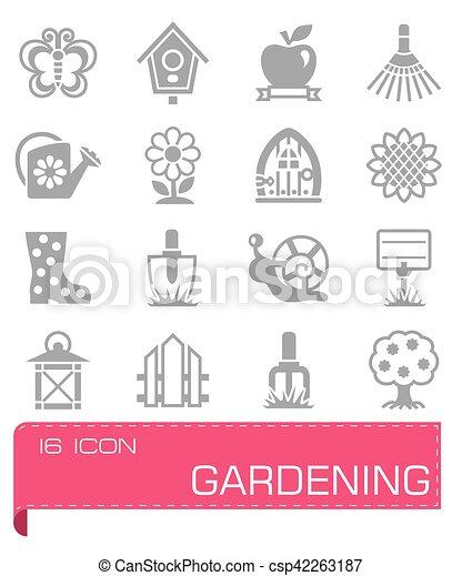 Vector Gardening icon set - csp42263187