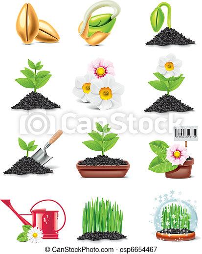 Vector gardening icon set - csp6654467
