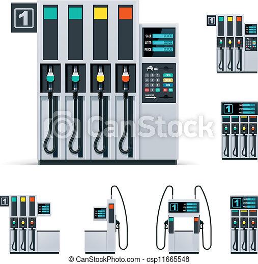 Vector gas station pumps set - csp11665548