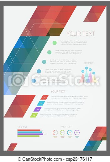 Vector Geometric Brochure Template Vector Creative  Vector Clip