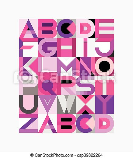 Vector Geometric Font Design - csp39822264