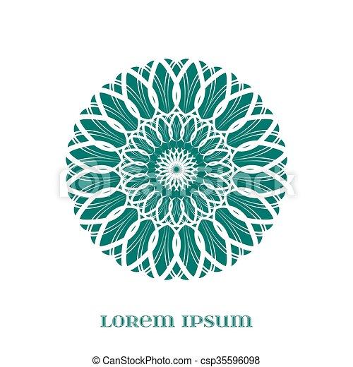 Vector geometric green mandala element for your designs invitation vector geometric green mandala stopboris Images